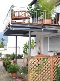 Balkon-Vergrößerung in Stahl & Edelstahl-klein